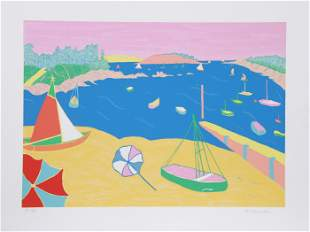 Marion McClanahan, Brittany Beach, Lithograph