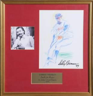 LeRoy Neiman, St. Johns Baseball Player, Drawing