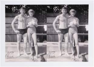 Jon Robyn, Couple at Pool , Gelatin Silver Print