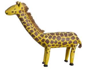 David Max Alvarez, Giraffe, Carved Wood, Bristles and