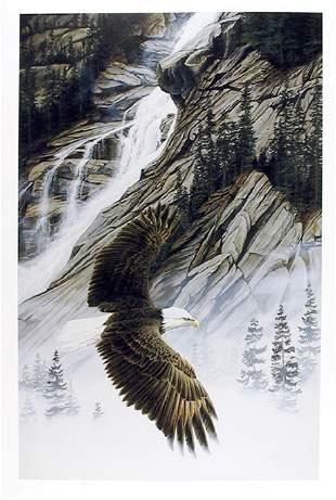 Marc Barrie, Shannon Falls Bald Eagle, Lithograph