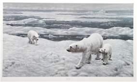 Charles Frace, Polar Bears, Lithograph