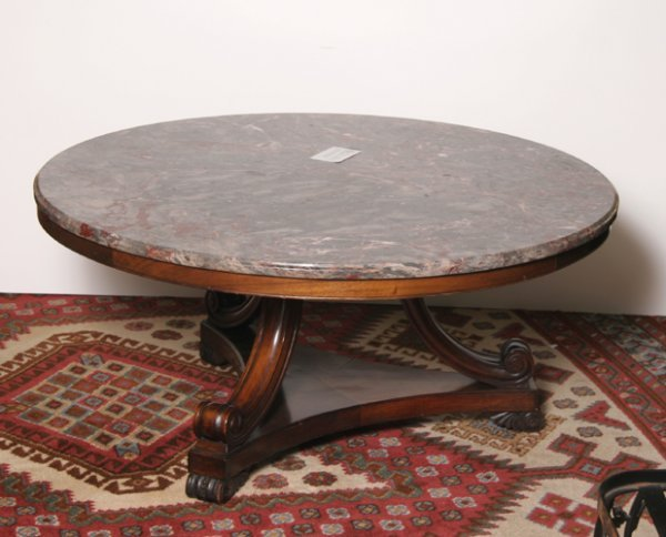 4: Empire Style Coffee Table with Marble
