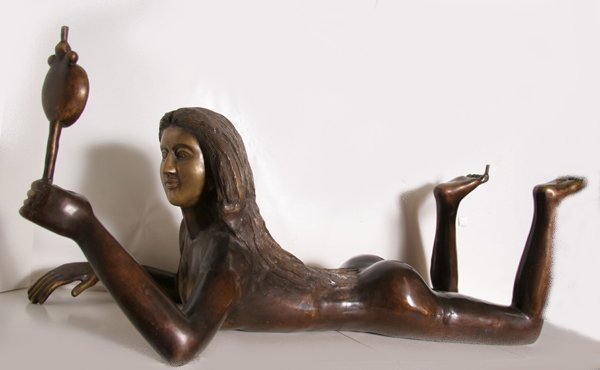 7: Falconet, Untitled (Table Stand - Woman with Mirror)