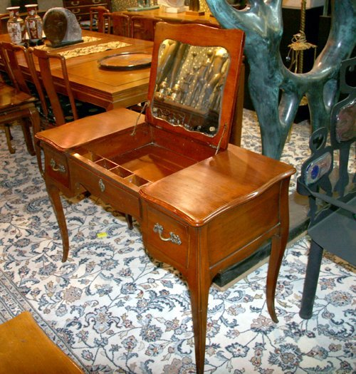 8: Fruitwood French Provincial Vanity