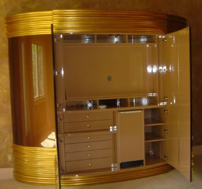 10: Extravagant Large Armoire with Refrigerator