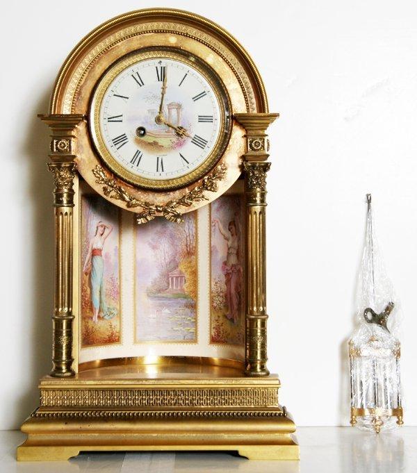 15: Brass Victorian Style Pendulum Clock