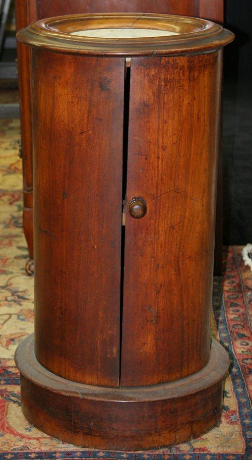 19: Antique Round Cabinet Pillar
