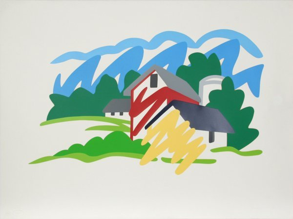296: Tom Wesselmann, House and Barn in the Distance, Si