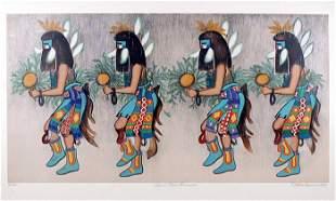 Alice Asmar, Zuni Rain Dancers, Lithograph