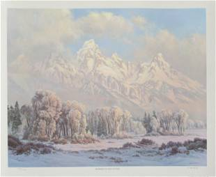 Clyde Aspevig, Morning in the Tetons, Offset Lithograph