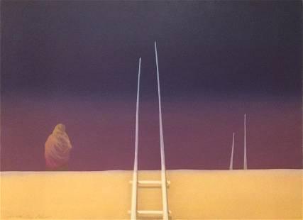 John Axton, Acoma Skies, Lithograph