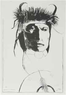 Leonard Baskin, Chief Wets It - Assinnboine, Lithograph