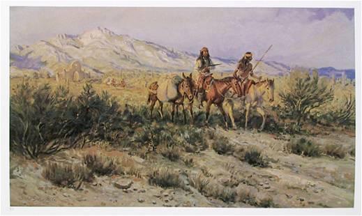 Joe Beeler, Mission Raiders, Lithograph