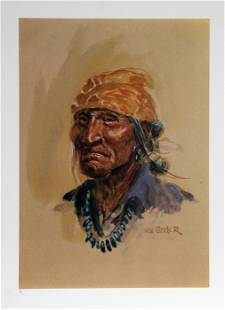 Joe Beeler, Navajo, Lithograph