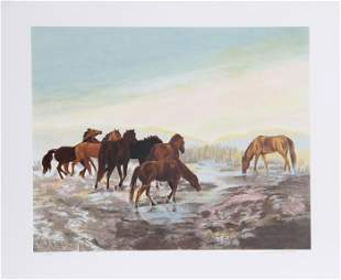 Gwendolyn Branstetter, Watering Hole, Lithograph