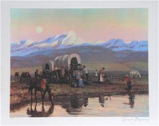 Duane Bryers, Overnight Stop, Lithograph