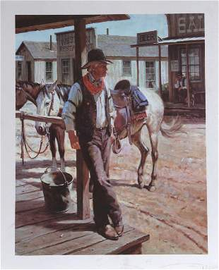 Duane Bryers, Sunday Afternoon, Lithograph