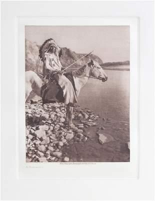 Edward Sheriff Curtis, A Blackfoot, Etching