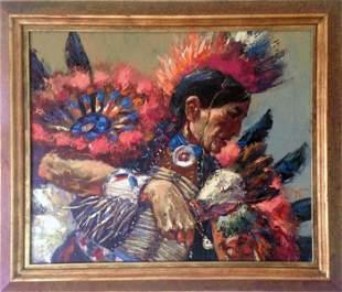 Noel Daggett, Sioux War Dance, Oil Painting