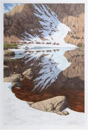Bev Doolittle, Season of the Eagle, Offset Lithograph