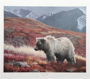 Charles Frace, Alaskan Autumn, Lithograph