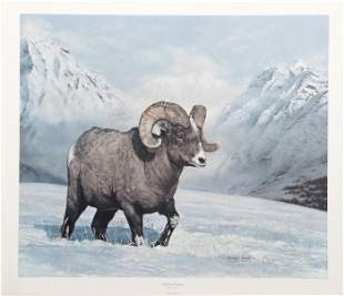 Charles Frace, Big Horn Country, Lithograph