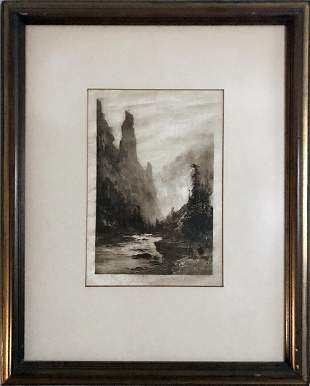 Thomas Hill, Yosemite Valley, Lithograph