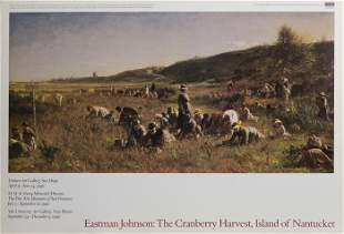 Eastman Johnson, The Cranberry Harvest, Poster on