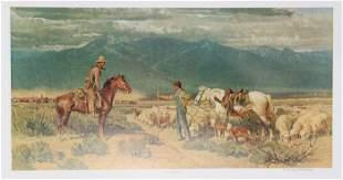 Robert Elmer Lougheed, Open Range Encounter, Offset