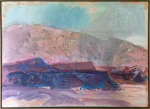 Suzanne Martyl, New Mexico Landscape, Oil Painting
