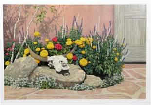 Lorna Patrick, Courtyard Garden, Screenprint