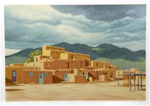 Lorna Patrick, Pueblo, Screenprint