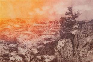 Roy Purcell, Grand Canyon III, Etching