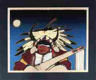 Kevin Red Star, Midnight Dancer, Lithograph