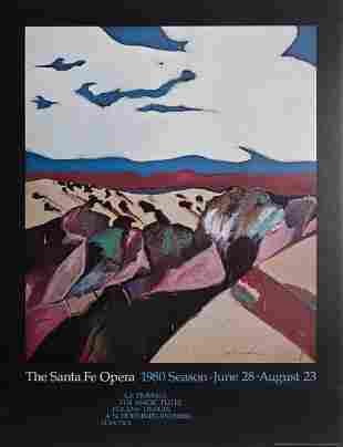Fritz Scholder, Near the Opera, Poster on foamcore
