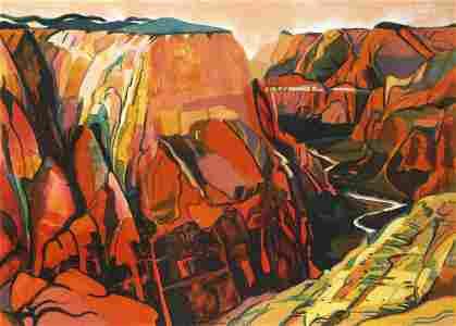 Susan Shatter, Grand Canyon, Lithograph