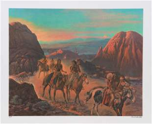 Cecil Smith, Cheyenne House Warmers, Lithograph