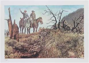 Cecil Smith, On The Right Trail, Lithograph