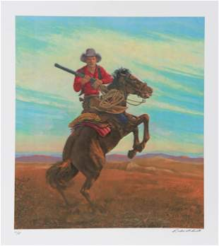 Rockwell Smith, Don't Crowd Me II, Lithograph