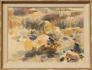 Paul Souza, Desert, Watercolor on Paper
