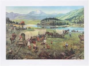 David K. Stone, Wagon's West, Lithograph