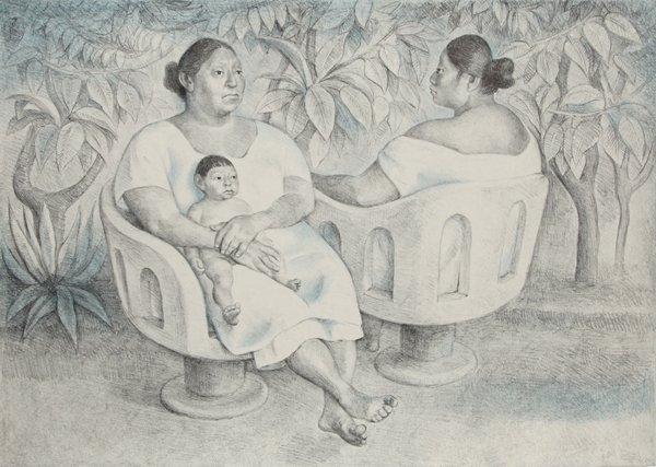 3: Francisco Zuniga, Yucatecas en la Parque, State II,