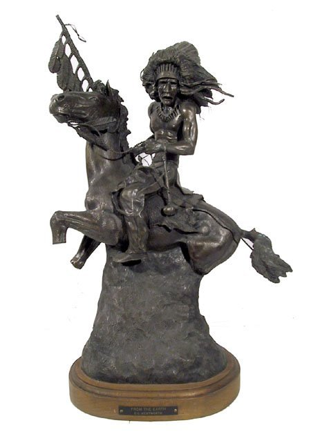 11: G.C. Wentworth, From the Earth, Bronze Sculpture
