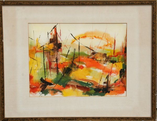 16: Soni Wallace, Abstract Watercolor