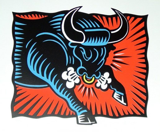 141: Burton Morris, The Bull, Silkscreen
