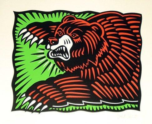 142: Burton Morris, The Bear, Silkscreen