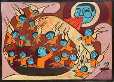 138: Raimundo de Oliveira, Jonah and the Whale, Oil Pai