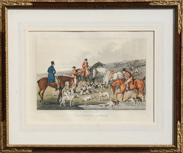 1: Henry Thomas Alken, Fox Hunting, The Death, Etching