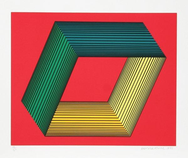 4: Richard Anuszkiewicz, Op-Art Silkscreen